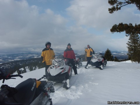 Miles and miles of high country to explore - Rich Ranch Winter Snowmobiling Adventures