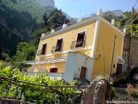 Building where the apartments are - Residence in Positano
