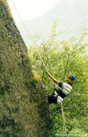 Rappelling in the Himalayas - School Tours in India
