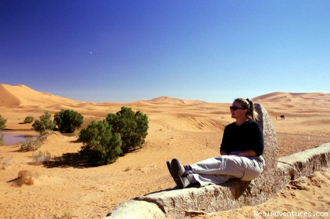 Relaxing in the Dunes - Camel Trip in Merzouga Sahara Desert Morocco