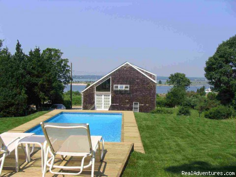 Relax in heated swimming pools - Hamptons Rentals - heated pool, WiFi, near ocean