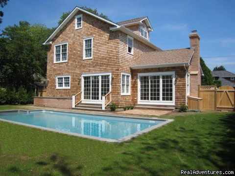 Private, heated swimming pool. - Hamptons Rentals - heated pool, WiFi, near ocean