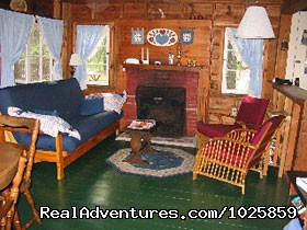 The Shanty's rustic living room. (#13 of 26) - Relaxing, Lakeside Getaway for the Family