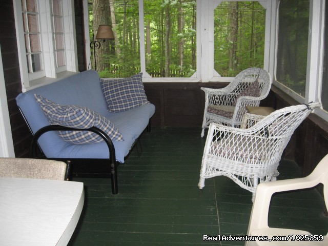 Relaxing porch on the Brown Camp. - Relaxing, Lakeside Getaway for the Family