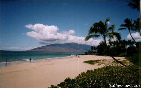 Maui Condo Rental: Gorgeous white sand beach across street.