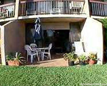Private,scenic patio, near pool. Patio furniture. - Maui Condo Rental