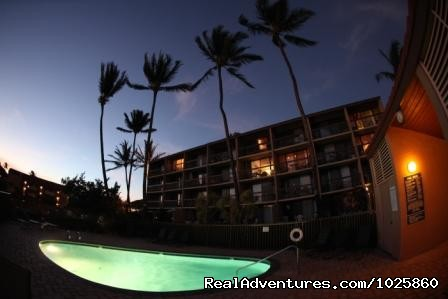 Pool at night - Maui Condo Rental