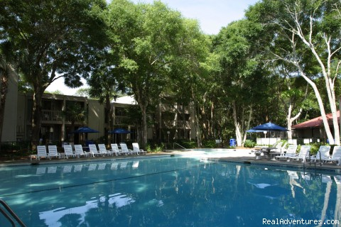 Outdoor Pool View - Villas by the Sea Resort Condominium Hotel