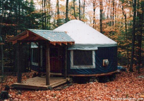 Falls Brook Yurt Rentals in the Adirondacks