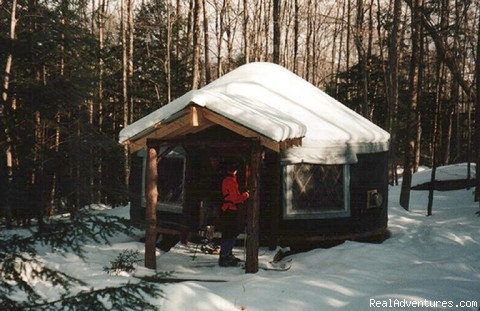 Lots of Snow for backcountry fun! - Falls Brook Yurt Rentals in the Adirondacks