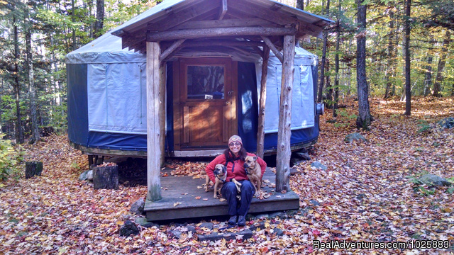 Well behaved dogs love staying at the yurts - Falls Brook Yurt Rentals in the Adirondacks