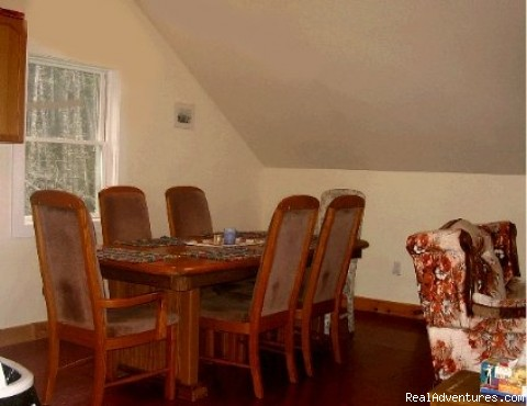 Dining Area (Large Oak Table: Seats 6) - Matinicus Island Oceanfront Getaway Cottage