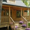 Brand New Luxury Log Cabins in Blue Ridge Mountain Rocking Chair Front Porch
