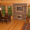 Brand New Luxury Log Cabins in Blue Ridge Mountain Great Room and Dining Area