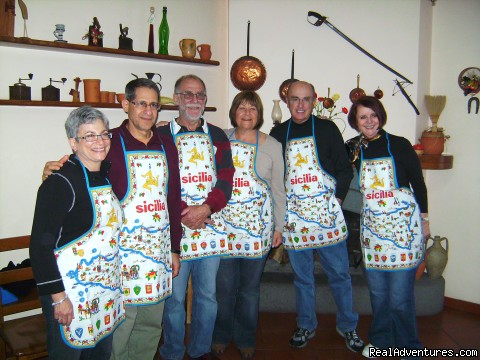 Cooking Tours: Experience Real Local Life In Italy cooks at cooking lesson in family's home in Sicily