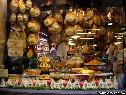 delicatessen window in Bologna market - Cooking Tours: Experience Real Local Life In Italy
