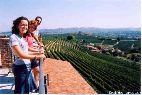 visiting winery owner in Piedmont's Barolo wine country - Cooking Tours: Experience Real Local Life In Italy