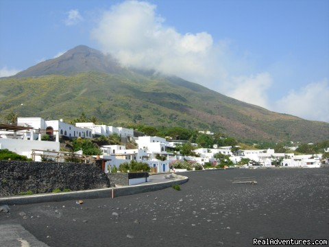 Island of Stromboli, Sicily beach and town - Cooking Tours: Experience Real Local Life In Italy