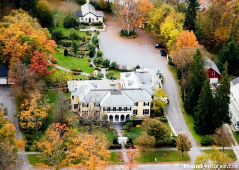 Leading Romantic Vermont Country Inn Lilac Inn Aerial Photo