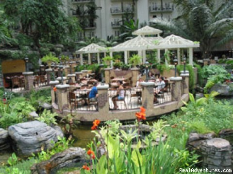 Gaylord Opryland offers guests a unique vacation Dining in Cascades Atrium