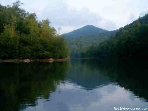 Nearby Nantahala Lake (#12 of 19) - Creekside luxury log cabins in the Smokies