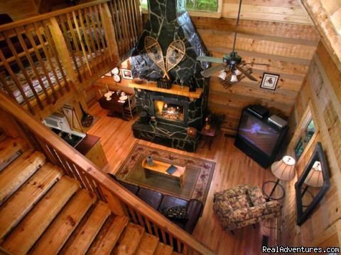 Romantic one-bedroom cabin (Hideaway) - Creekside luxury log cabins in the Smokies