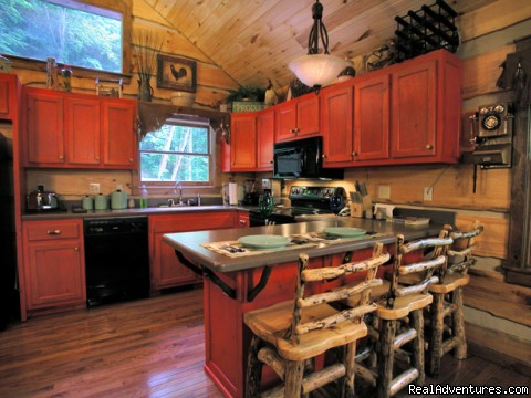 Gourmet kitchen (Cherokee Lodge) (#17 of 19) - Creekside luxury log cabins in the Smokies