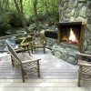 Creekside outdoor fireplace (Slippery Rock)