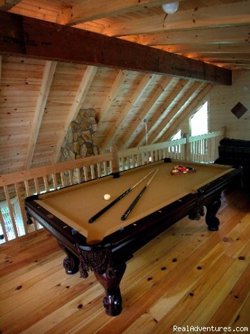 Pool Table | Image #2/10 | Hidden Falls Cabin-romantic and Secluded