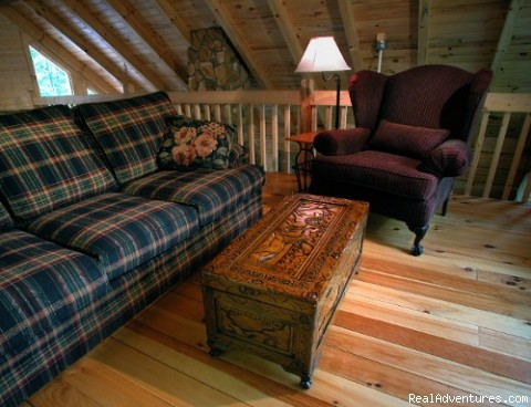 Upstairs sitting room - Hidden Falls Cabin-romantic and Secluded