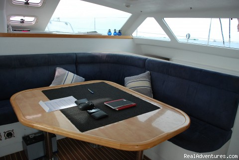 Saloon Table  - Yacht & Cruise Ship Agency in Maldives