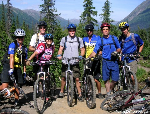 Alaska Backcountry Bike Tours Group photo Johnson Pass