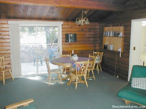 - Comfortable 2 B.R. Log Cabin with private beach