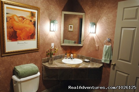 English Rose Bathroom - Get Pampered At WIld Rose Manor B&B