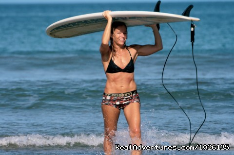 Warm Tropical Water - No wetsuit needed! - Surf Goddess - Surf, Yoga & Spa Retreats for Women