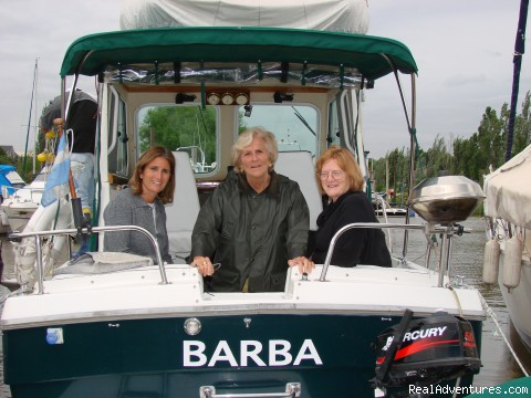 Happy ladies on board -  Buenos Aires Tigre Delta islands unforgettable