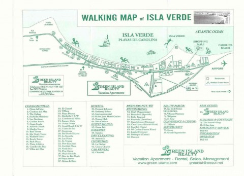 Walking Map of Isla Verde Area - Best Beach Area in Isla Verde Beach Area, San Juan