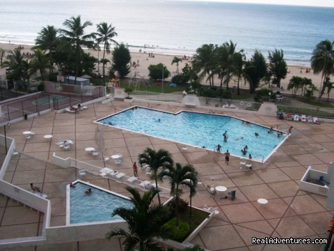Coral Beach - pool area - Best Beach Area in Isla Verde Beach Area, San Juan