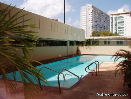 Racquet Club Pool Area - Best Beach Area in Isla Verde Beach Area, San Juan