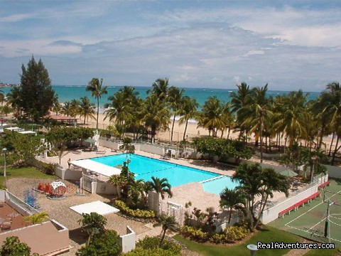 Marbella Pool Area - Best Beach Area in Isla Verde Beach Area, San Juan