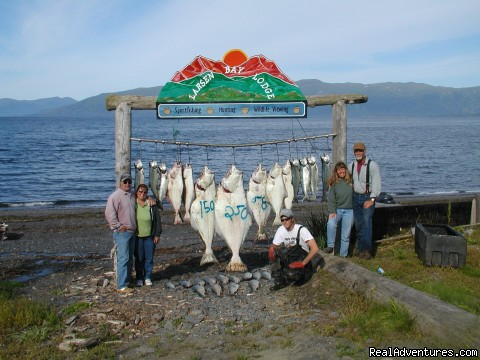 Saltwater Fishing for Halibut, Salmon, Bass & Cod - Incredible Fishing at the Larsen Bay Lodge