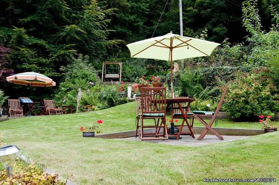 Relax in our rear garden at Bryn Bella Guest House | Image #9/10 | Charming Victorian Guest House in the Snowdonia