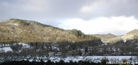 View from Bryn Bella - Winter - Charming Victorian Guest House in the Snowdonia