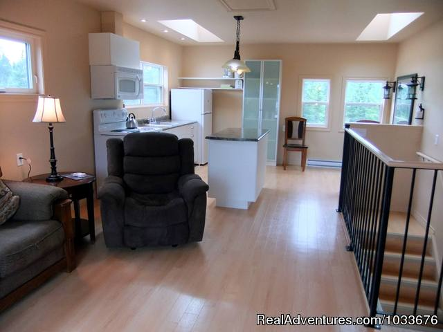 10 Living Roomkitchen with skylights - By d'Bay,Next to Terra Nova Nat Park & Golf Course