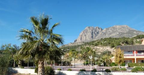 Costa Blanca Climbing  La Plantacion Hotel Puig Campana View from Gardens
