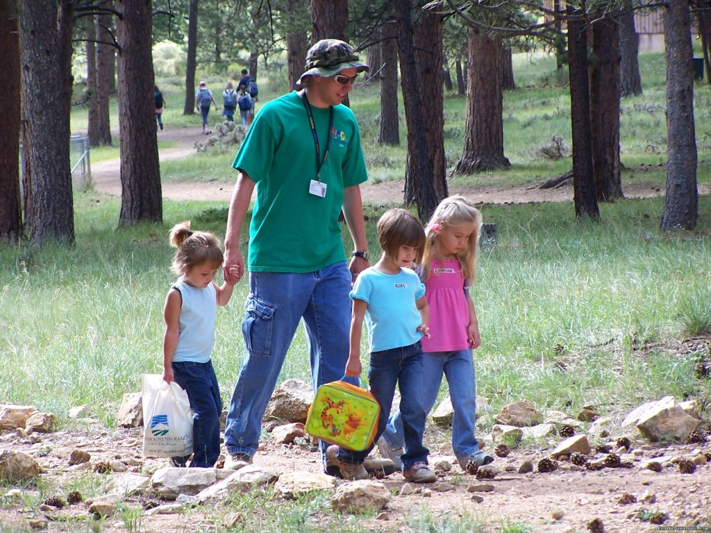 Day Campers and Counselor | Image #9/14 | Family and Group fun in our lodges and cabins.