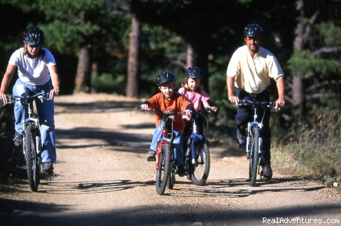 biking - Family and Group fun in our lodges and cabins.