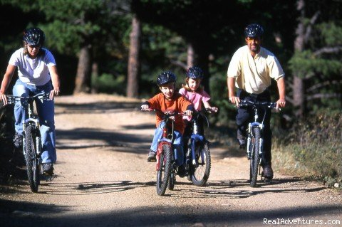 biking | Image #7/14 | Family and Group fun in our lodges and cabins.