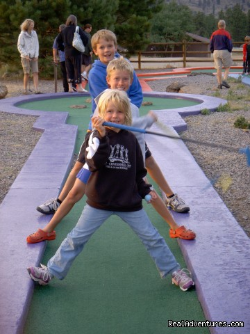 Mini golf - Family and Group fun in our lodges and cabins.