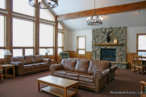 Interior of 8 bedroom reunion cabin - Family and Group fun in our lodges and cabins.